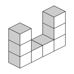 Colorless drawing cubes