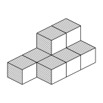 isometric coloring cubes