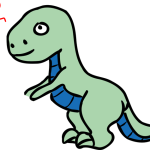 Tyrannosaur in love by Rones