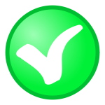 Green tick OK vector icon