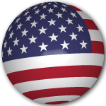 USA flag sphere
