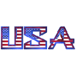 USA Typography Mark II Cubes Mosaic
