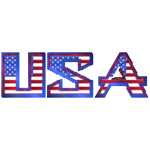 USA Typography Mark II Triangles Mosaic