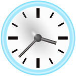Manual clock vector graphics
