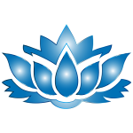 Ultramarine Lotus Flower Silhouette No Background
