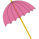 Summer pink umbrella vector illustration