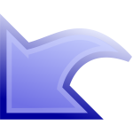 Blue arrow with outline stroke