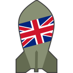 Vector clip art of hypothetical British nuclear bomb
