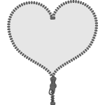 Unzip my heart sign vector image