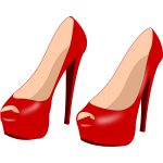 Glossy red stilettos