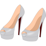 Gray stilettos