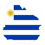 Outline map of Uruguay