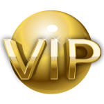 Very important person gold sign vector image