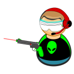 Computer gamer icon