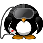 Virtual reality penguin