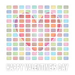 Vector clip art of pastel colored Valentine's Day card