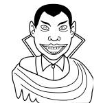 Vector clip art of smiling vampire guy