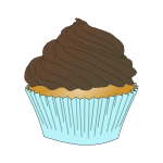 Chocolate frosting cupcake