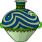 Blue and green pot