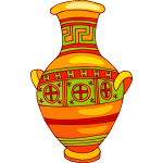Vase in bright colors