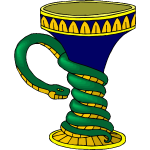Vase with snake