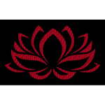 Vermillion Lotus Flower
