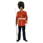 Vector graphics of vintage British soldier