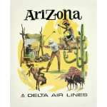 Vintage travel poster Arizona