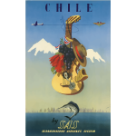 Vintage travel poster of Chile