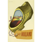 Holland vintage travel image
