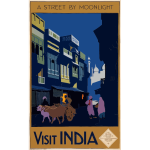 Travel poster of India