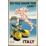 Vector graphics of Italian vintage travel poster