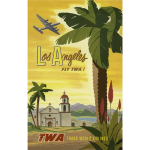 Vintage poster of Los Angeles