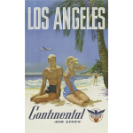 Vintage travel poster for Los Angeles