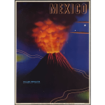 Vintage travel poster of Mexico