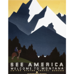 Vintage poster of Montana