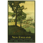 Travel poster of New England