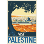 Travel poster of Palestine
