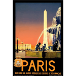 French vintage travel poster
