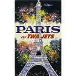 French vintage travel promotional poster