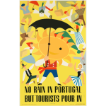 Vector clip art of Portugese vintage travel poster