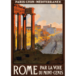Tourist poster of Rome