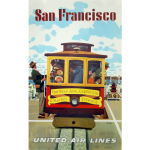 Vintage promotional poster of San Francisco