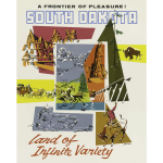 South Dakota travel poster