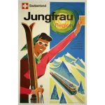 Swiss vintage travel poster