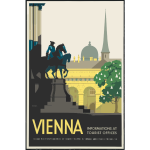 Travel poster of Vienna