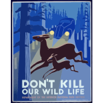 Vintage Poster Promoting Wildlife Preservation