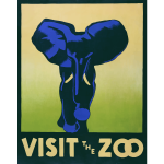 Visit the zoo poster