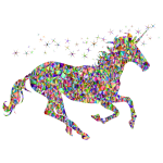 Unicorn in chromatic colors