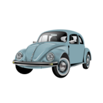 Beetle car model vector
